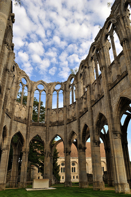 Ruins of Abbaye d'Ourscamp in Oise / France