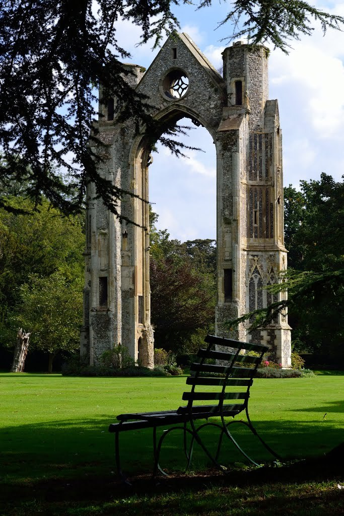Walsingham Priory ruins in Norfolk / England
