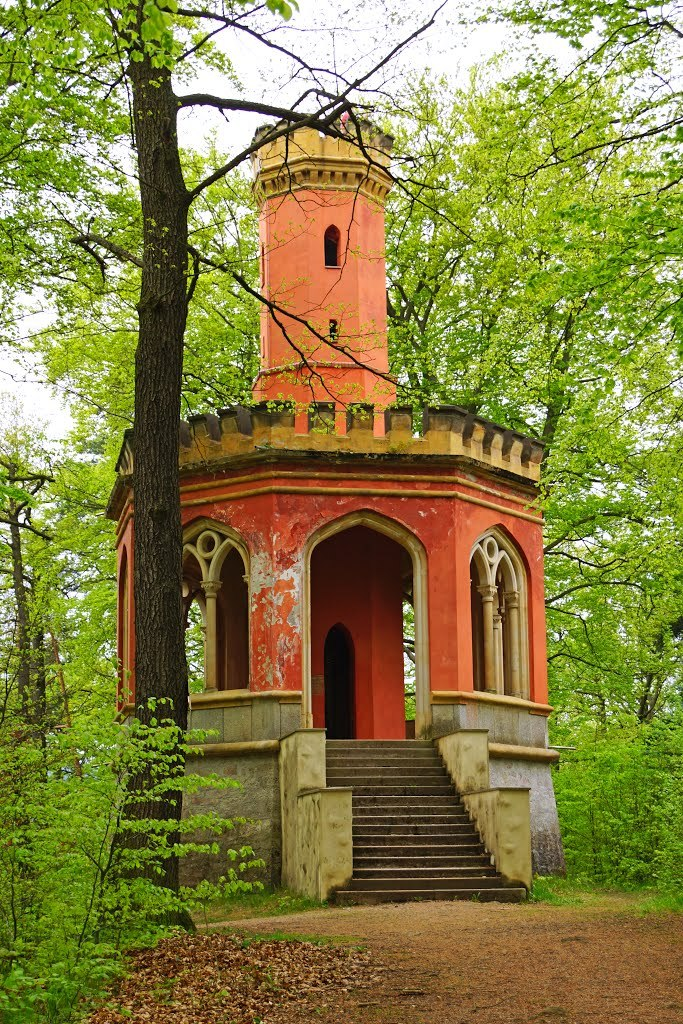 Charles IV lookout tower in Karlovy Vary / Czech Republic