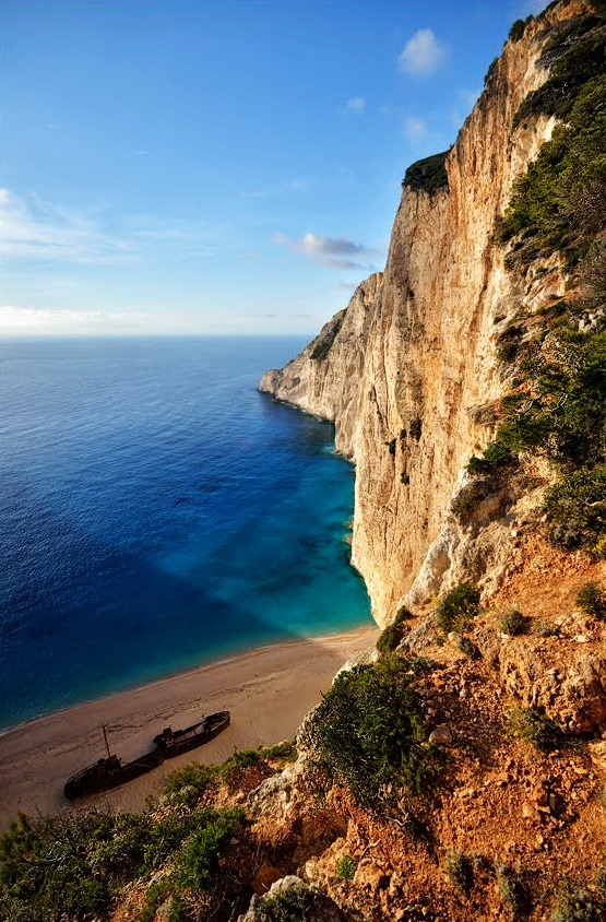 """Different view at the Shipwreck Beach, Zakynthos / Greece ."""